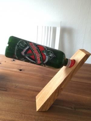 Massivholz-Flaschenhalter